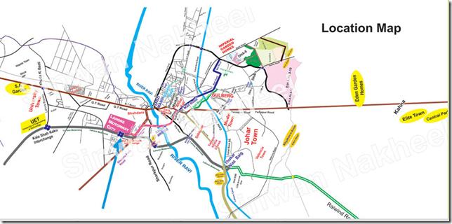 Lahore Motorway city location